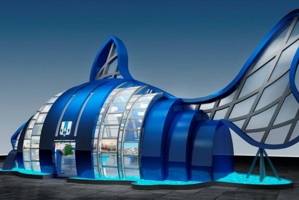 Сооружение «Остров-рыба», моделирующее огромного лосося, претендует на звание хита ВЭФ-2017.