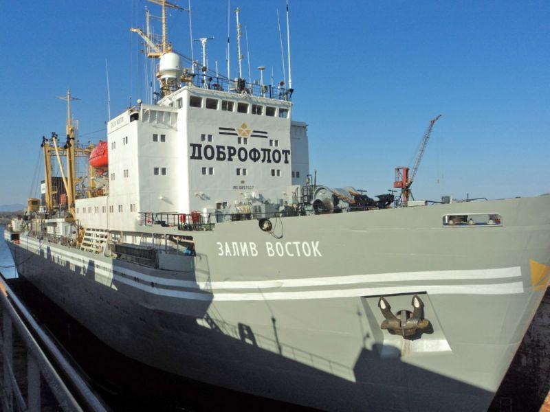Фото: судно «Залив Восток» после ремонта