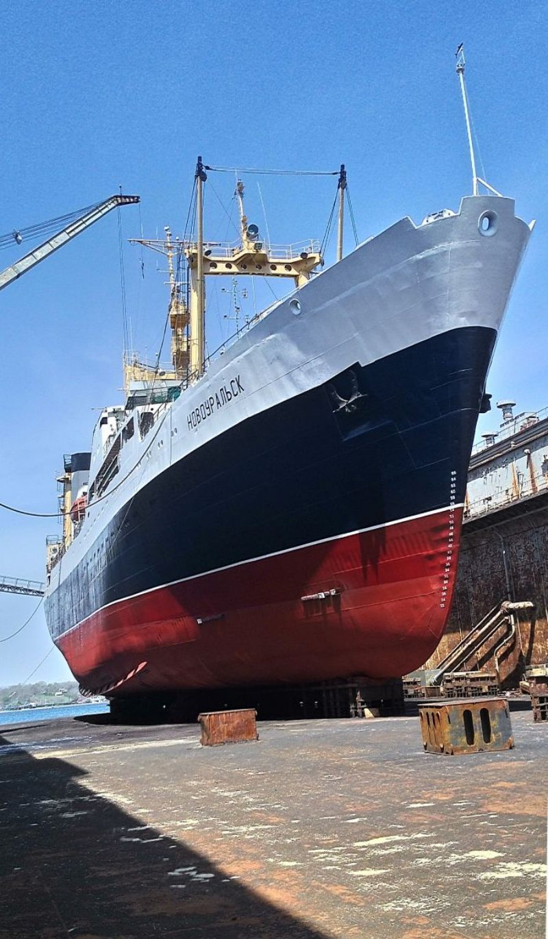 Фото: судно «Новоуральск» после ремонта