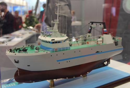 макет рыбопромыслового траулера проекта 50010