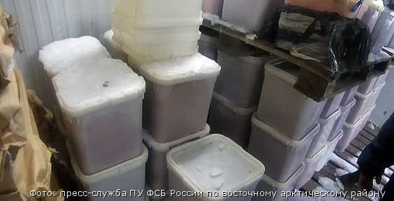 На предприятии, принадлежащем ООО «Морозко», в поселке Нагорный Елизовского района Камчатки, пограничники нашли немаркированную продукцию. Она хранилась в специально оборудованных тайниках